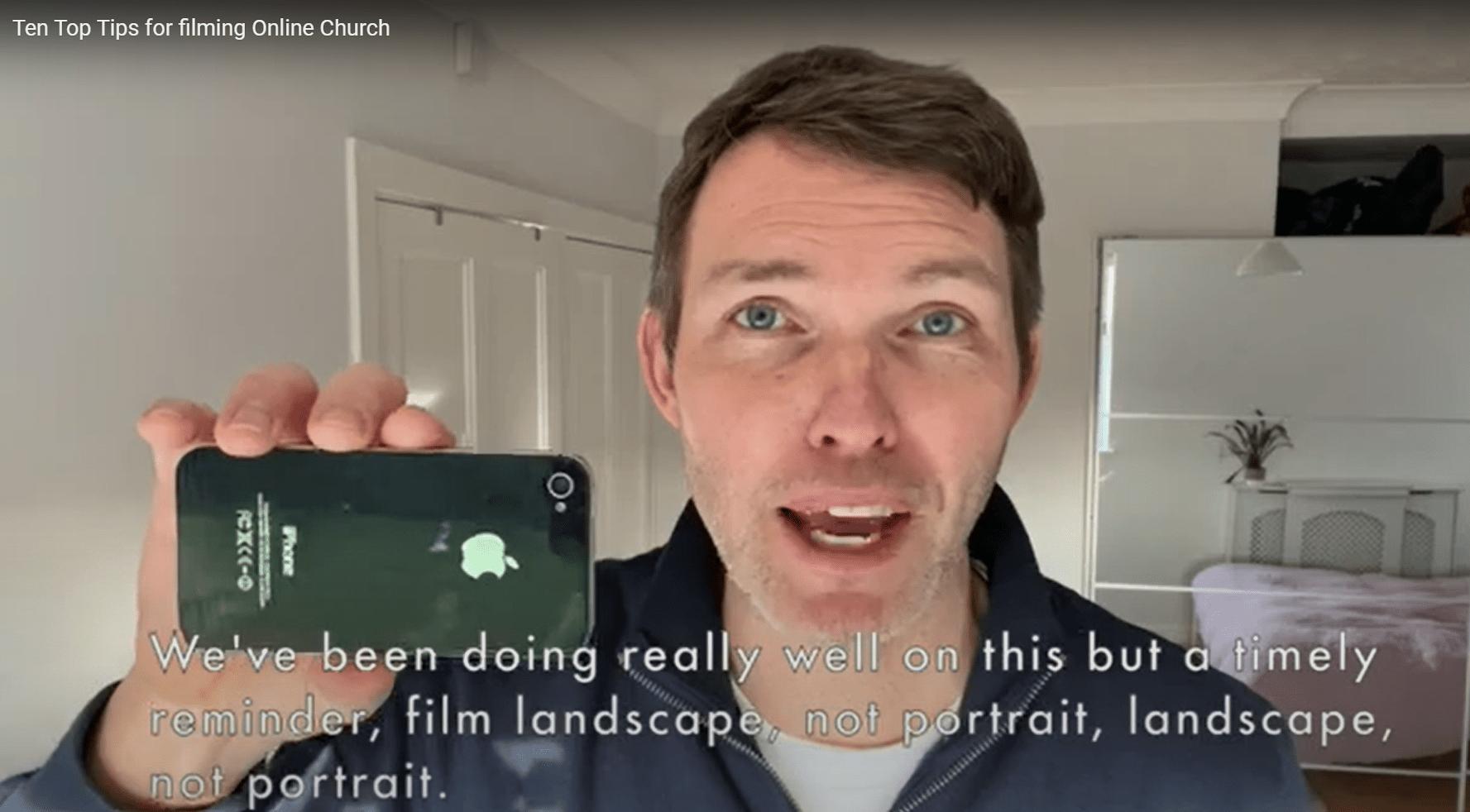 Ten Top Tips for Filming Online Church